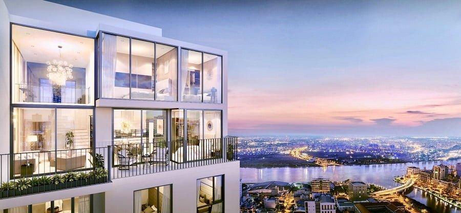 Các căn hộ Penthouse có sân vườn (trừ DL4 và DL5)