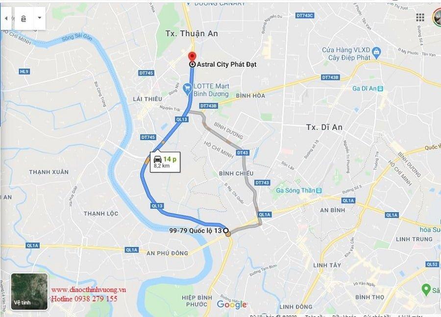 Từ Astral về TP Hồ Chí Minh chỉ 15 phút di chuyển