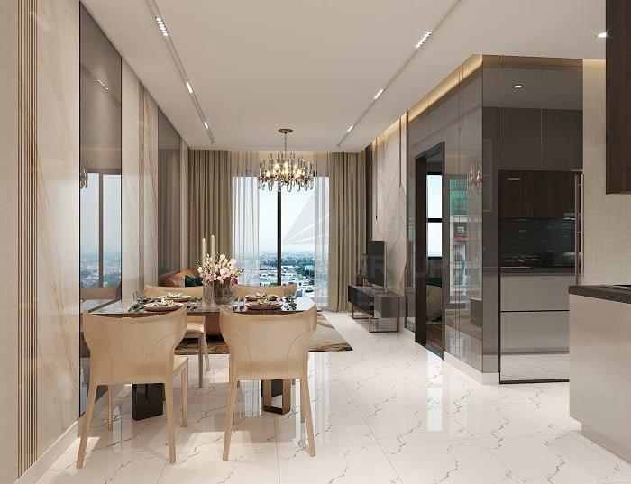 Phòng khách - căn 2PN | Opal Skyline