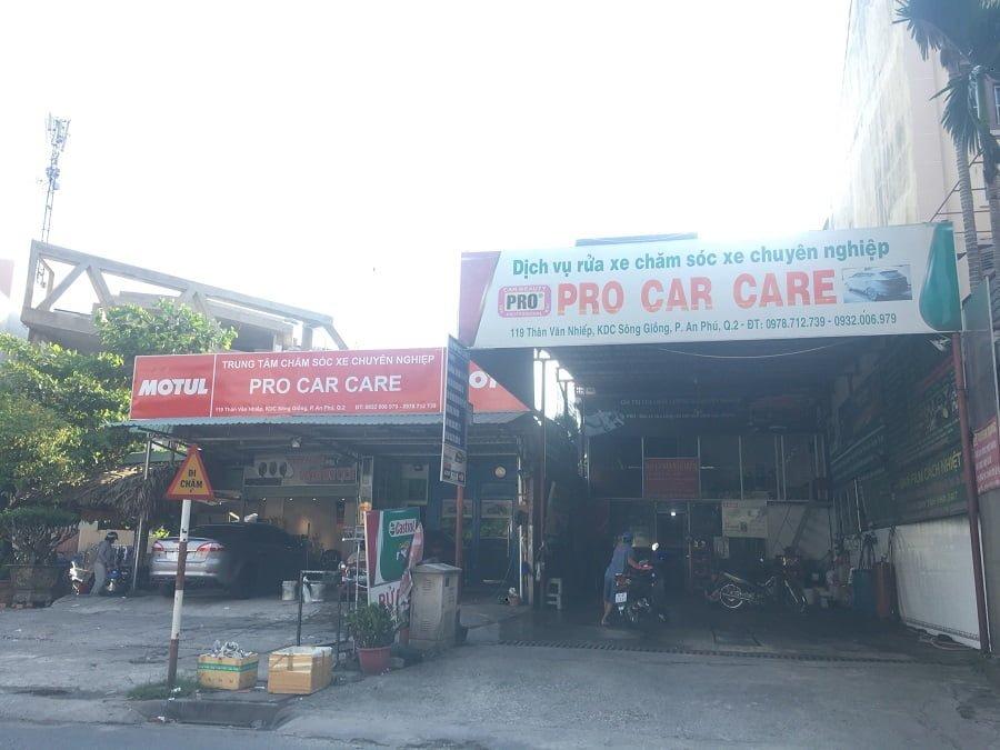 Dịch vụ sửa và rửa xe gần The Sun Avenue