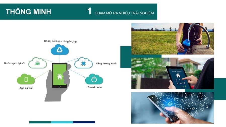 Nhiều công nghệ thông minh được áp dụng vào dự án