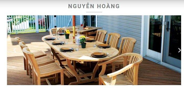 Công ty Nguyễn Hoàng chuyên sản xuất gỗ