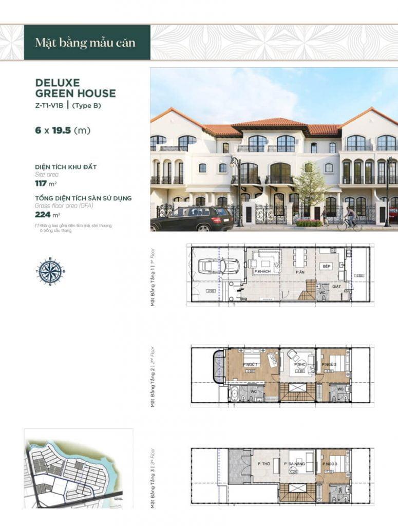 Deluxe Green House 6x19.5m (Z-T1-V1B)