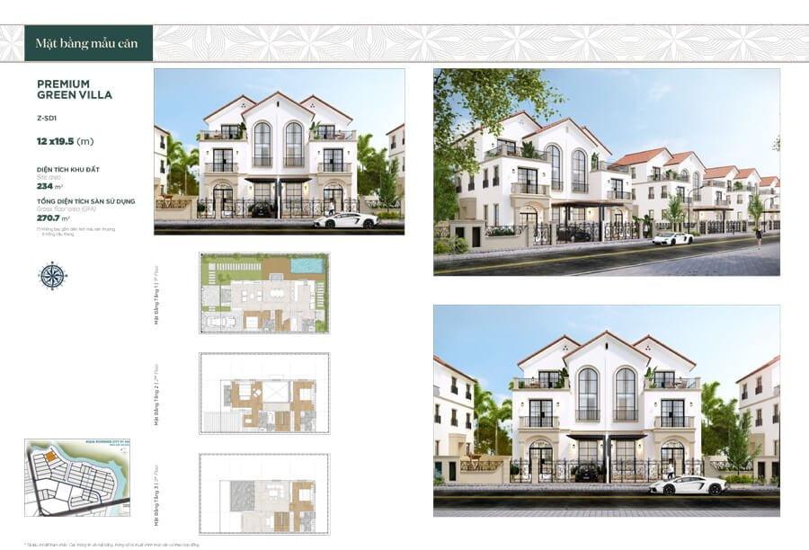 Premium Green Villa 12x19.5m (Z-SD1)