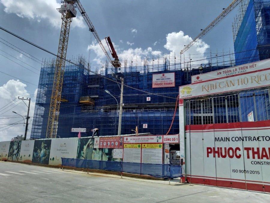 Tiến độ xây dựng căn hộ Ricca mới nhất ngày 30/08/2020