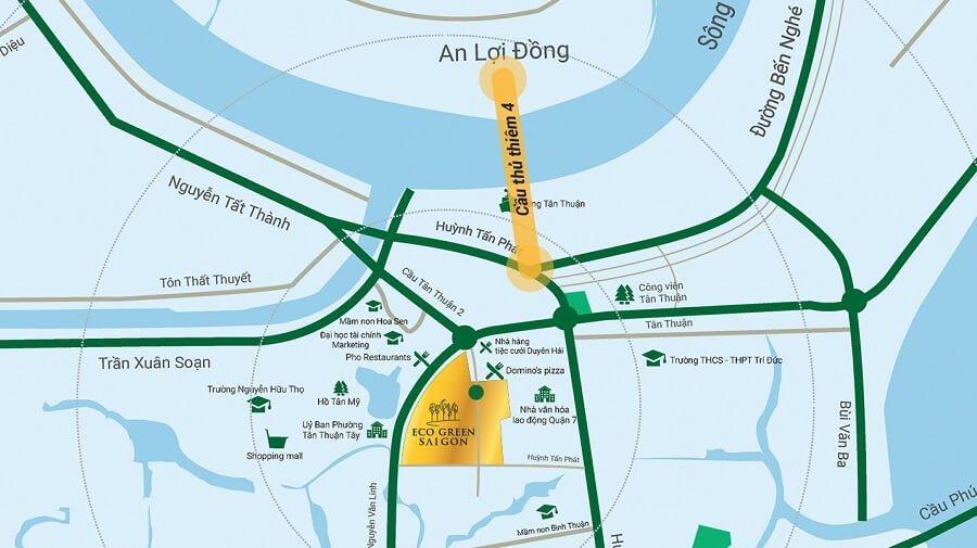 Tại Eco Green Sài Gòn có thể di chuyển đi khắp thành phố một cách dễ dàng