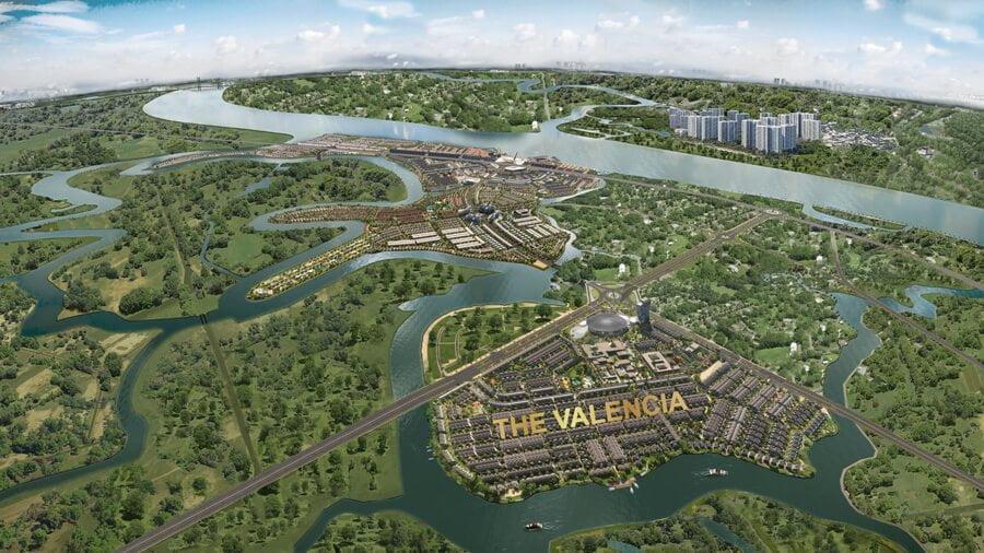 Vị trí phân khu The Valencia