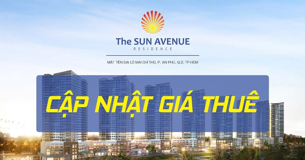 Cập nhật giá cho thuê The Sun Avenue