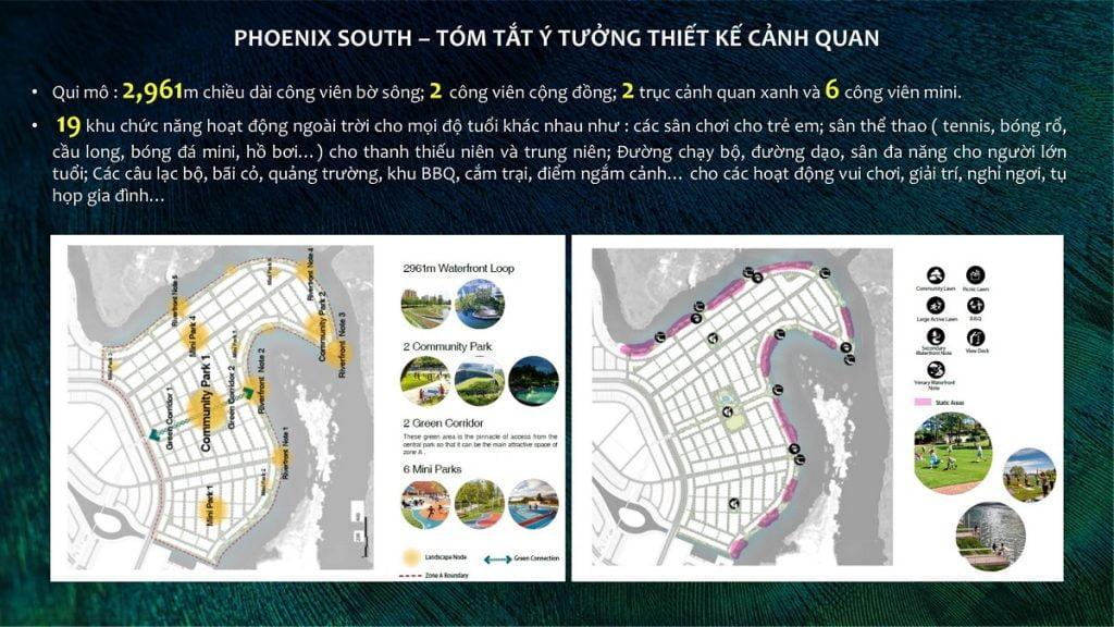 Ý tưởng thiết kế cảnh quan của The Phoenix South