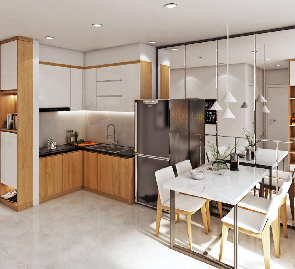 Thiết kế phòng bếp nhà mẫu Bcons Garden