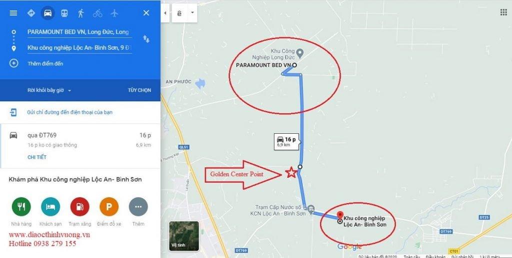 Dự án nằm giữa 2 KCN lớn của Long Thành