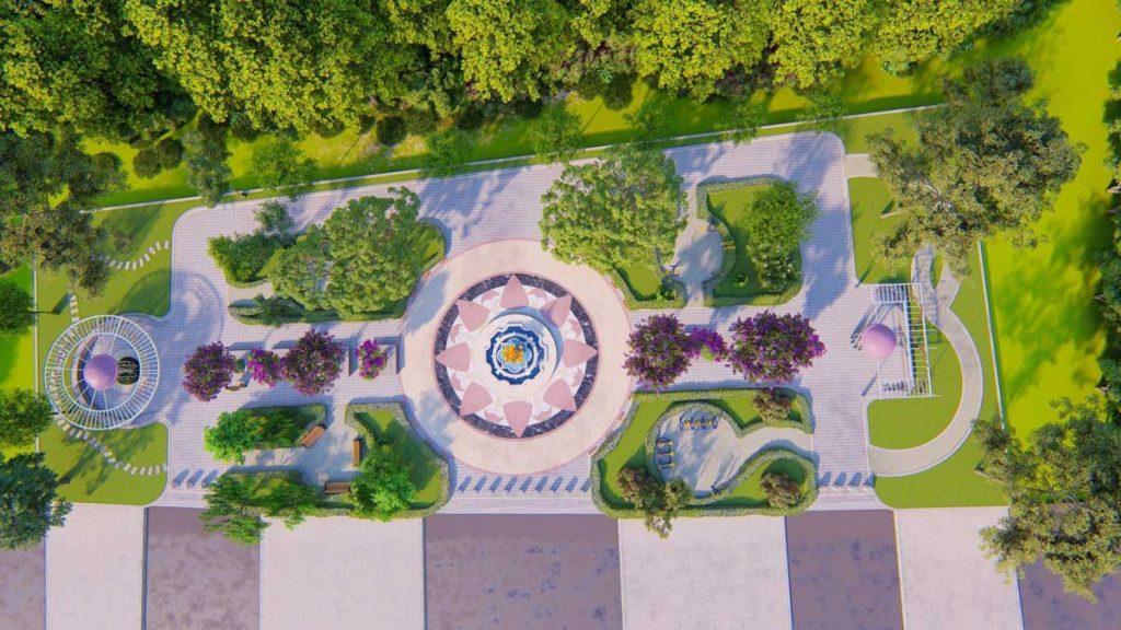 Phối cảnh công viên Tân Hòa