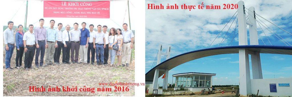Hình ảnh Lễ khởi công trường ĐH Giao Thông Vận Tải và hình ảnh cổng chào hiện nay gần hoàn thiện.