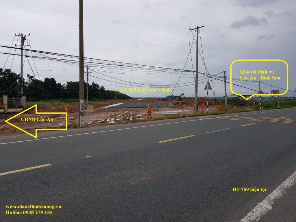 Hình ảnh tiến độ đoạn đường DT 769 mới trong tương lai