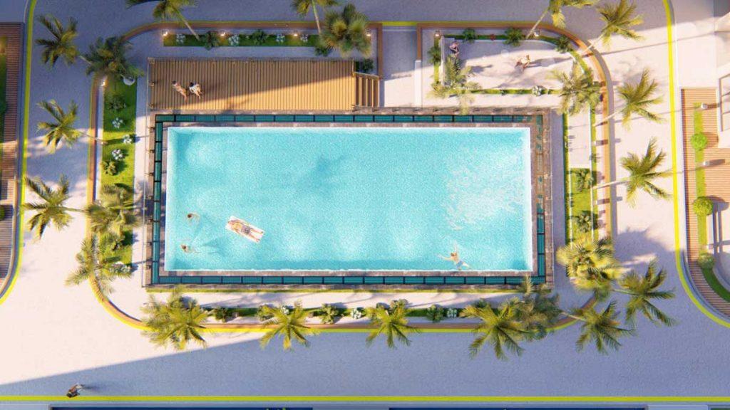Hồ bơi tại Bcons Plaza