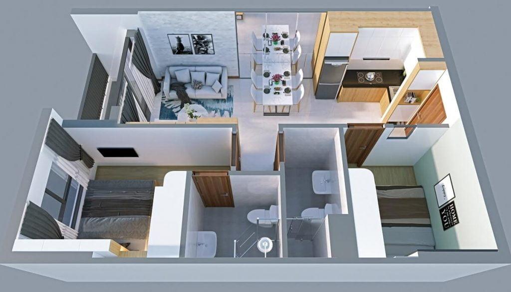 Thiết kế căn hộ loại B