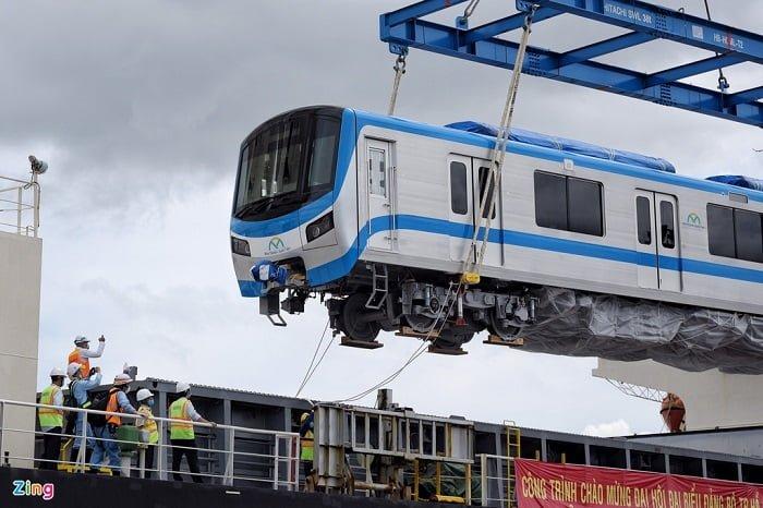 Toa Tàu Metro số 1 đã chính thức có mặt tại TP Hồ Chí Minh