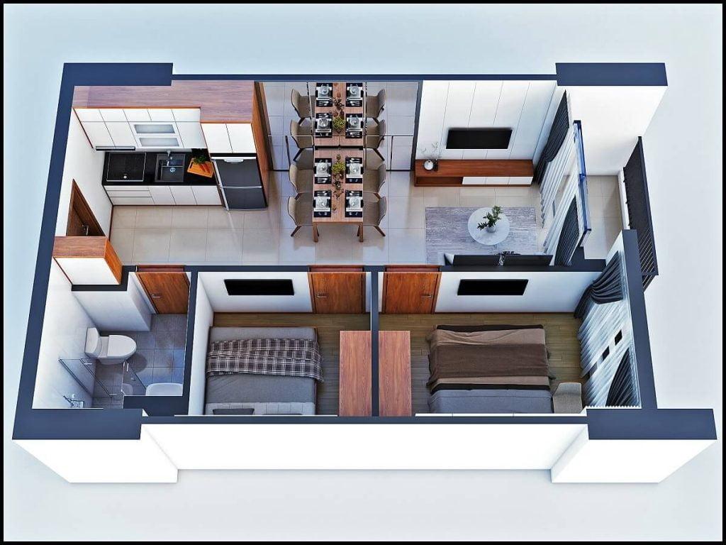 Thiết kế căn hộ loại C