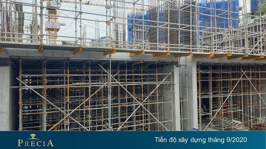 Tiến độ xây dựng căn hộ Precia mới nhất tháng 9/2020