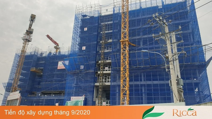 Tiến độ xây dựng căn hộ Ricca mới nhất ngày 25/09/2020