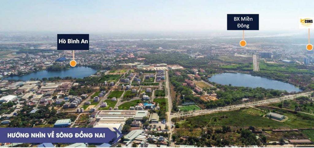 View về hồ Bình An