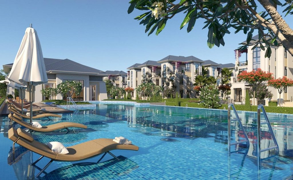 Hồ bơi tại khu đô thị Tiến Lộc Nhơn Trạch