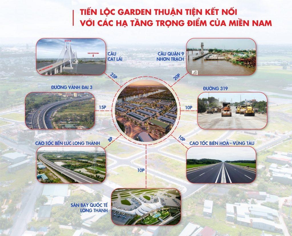 Tiến Lộc Garden kết nối nhiều công trình quan trọng phía Nam