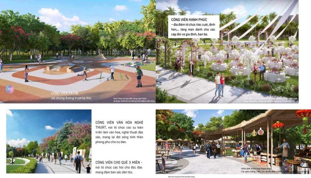 Công viên hạnh phúc, công viên văn hóa nghệ thuật