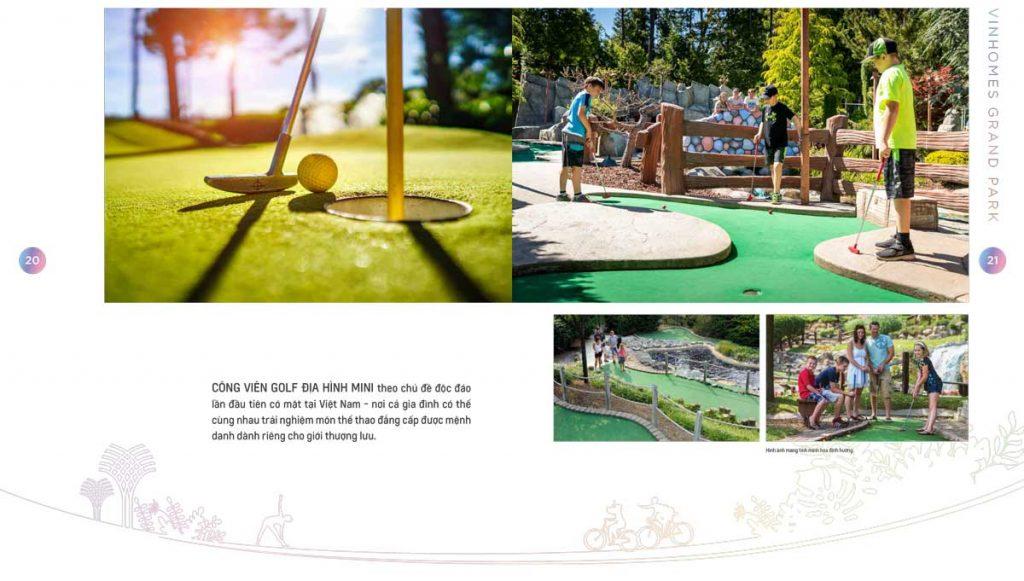 Công viên Golf địa hình mini