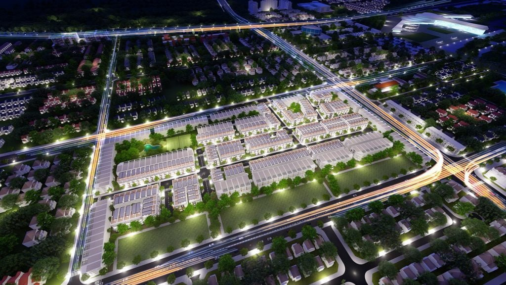 Toàn cảnh dự án đất nền Long Thành Golden City về đêm