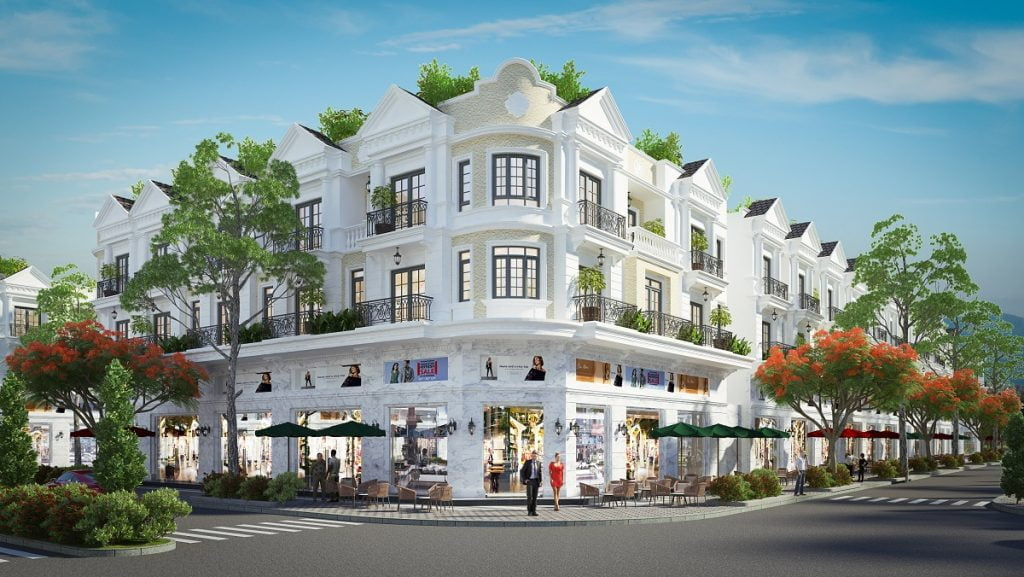 Thiết kế shophouse căn góc của Tiến Lộc Đồng Nai