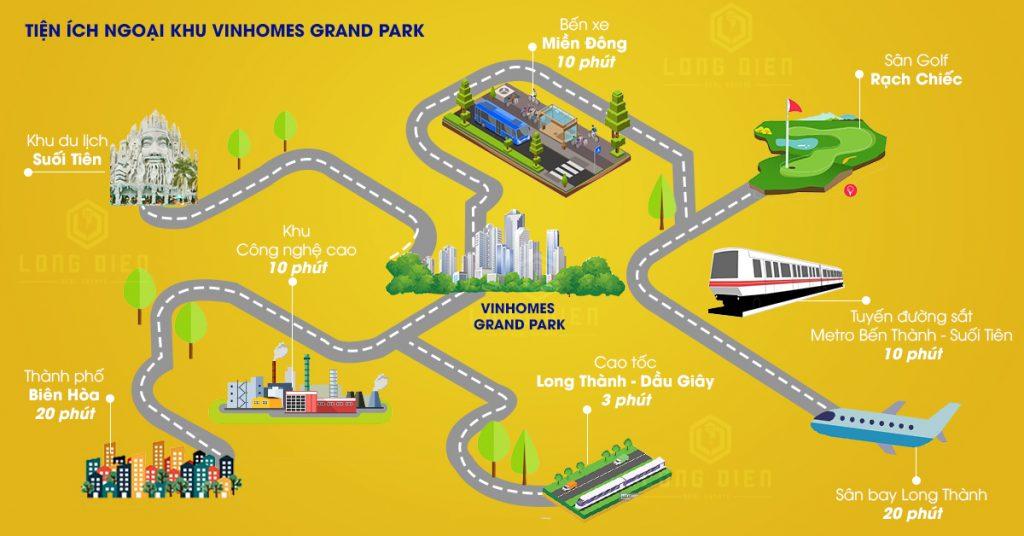 Tiện ích ngoại khu Vinhomes Grand Park