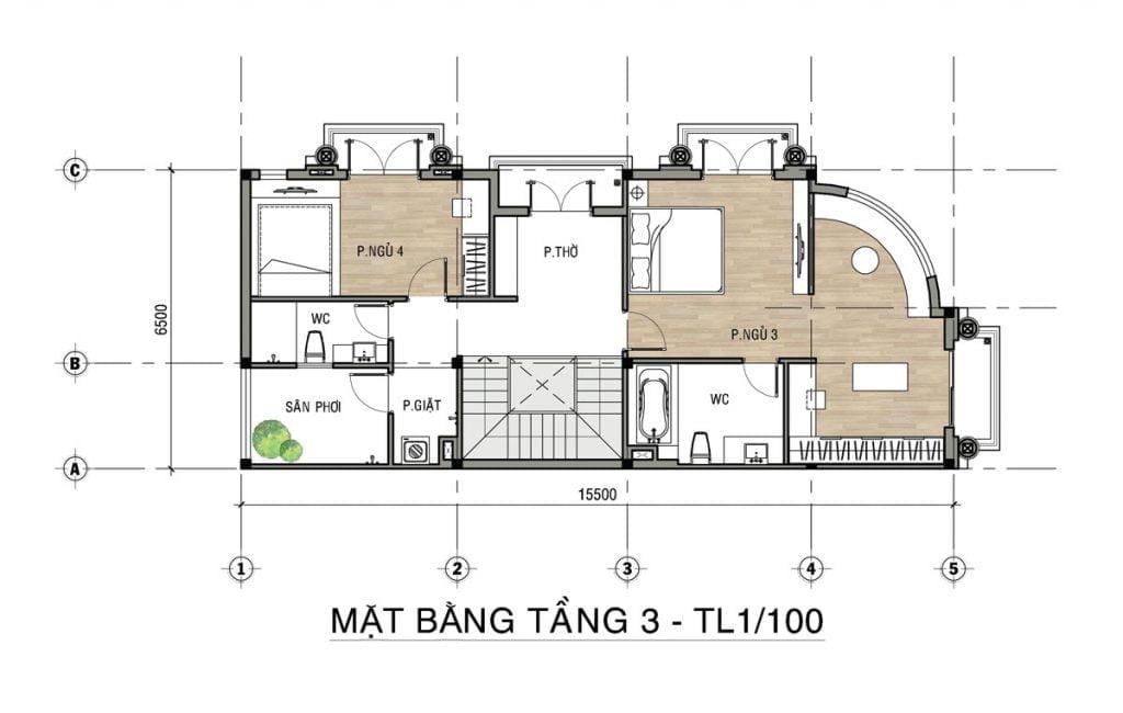 Thiết kế chi tiết của căn góc shophouse Valerich tại khu đô thị Tiến Lộc