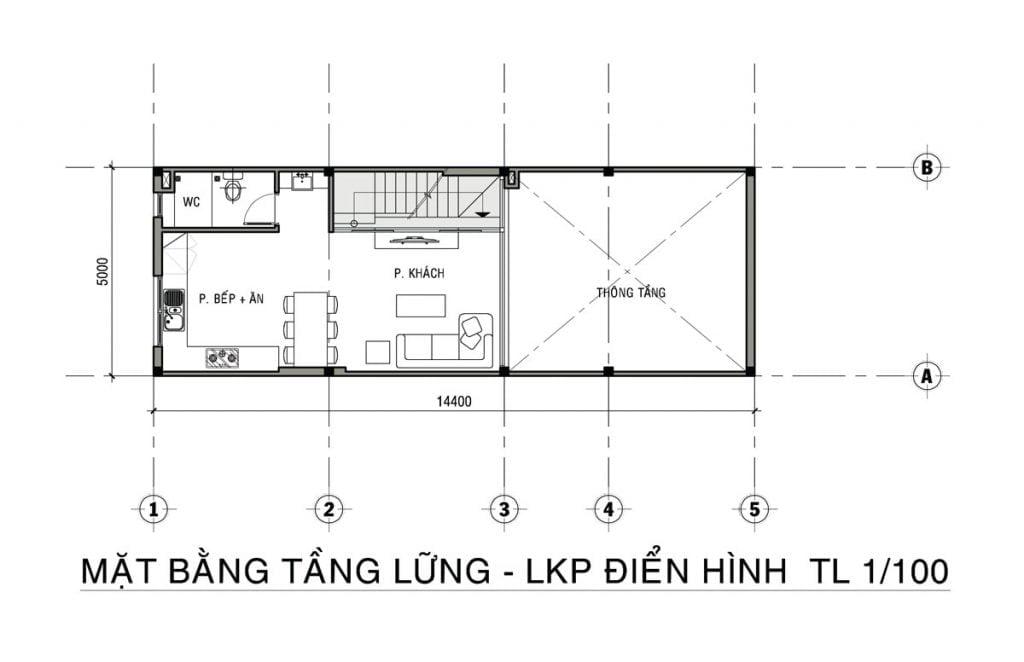 Thiết kế shophouse căn điển hình của Tiến Lộc Đồng Nai