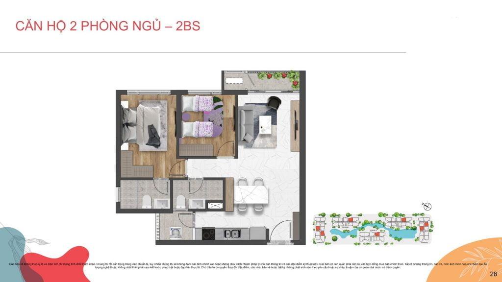 Thiết kế căn hộ 2PN Celesta Rise