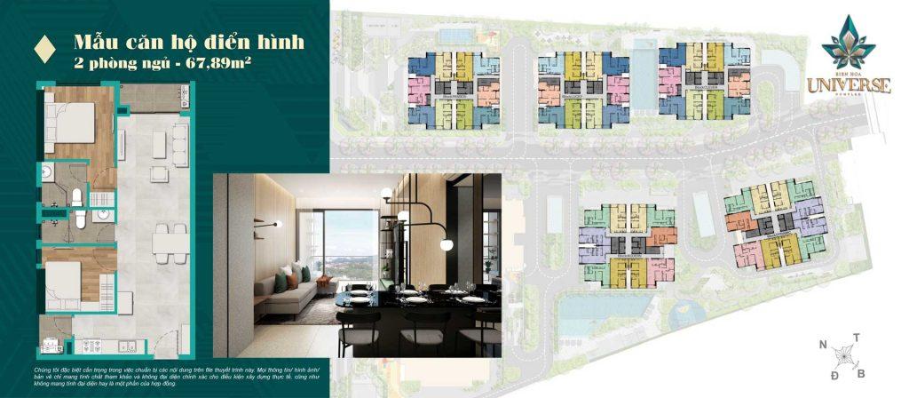 Thiết kế căn hộ 2PN 67.89m2