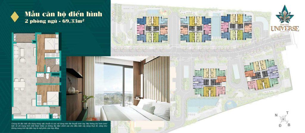 Thiết kế căn hộ 2PN 69.33m2