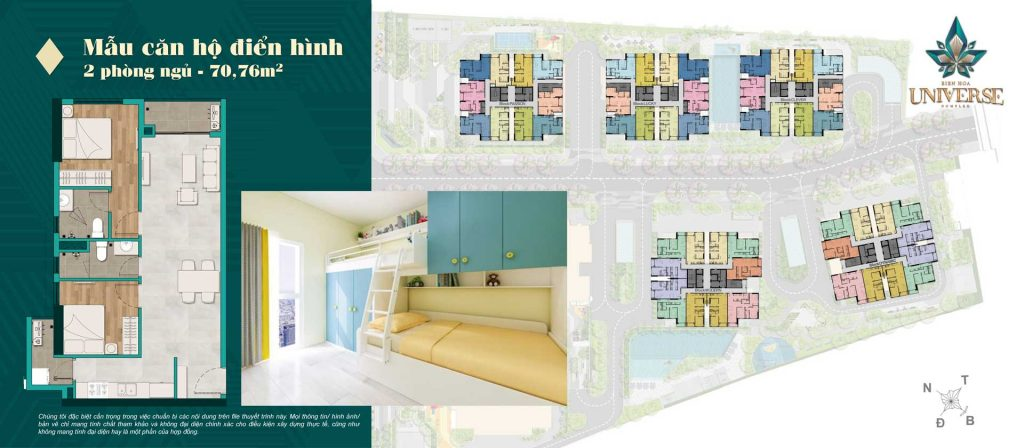 Thiết kế căn hộ 2PN 70.76m2
