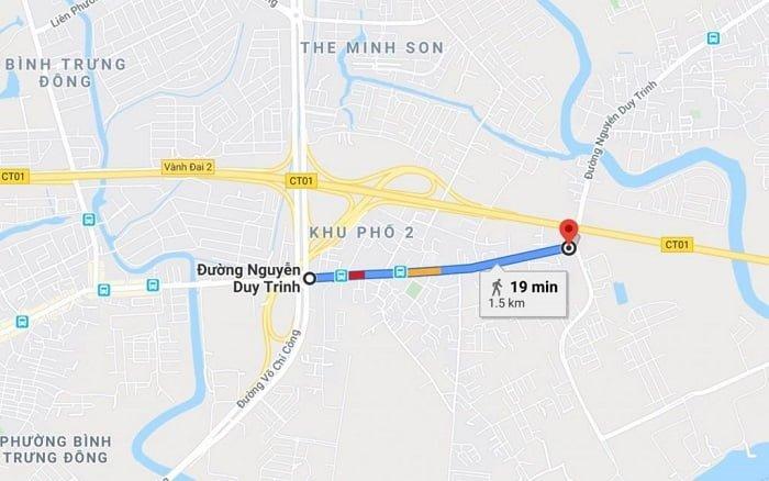 Dự kiến năm 2021 sẽ bắt đầu mở rộng đoạn này trước của đường Nguyễn Duy Trinh