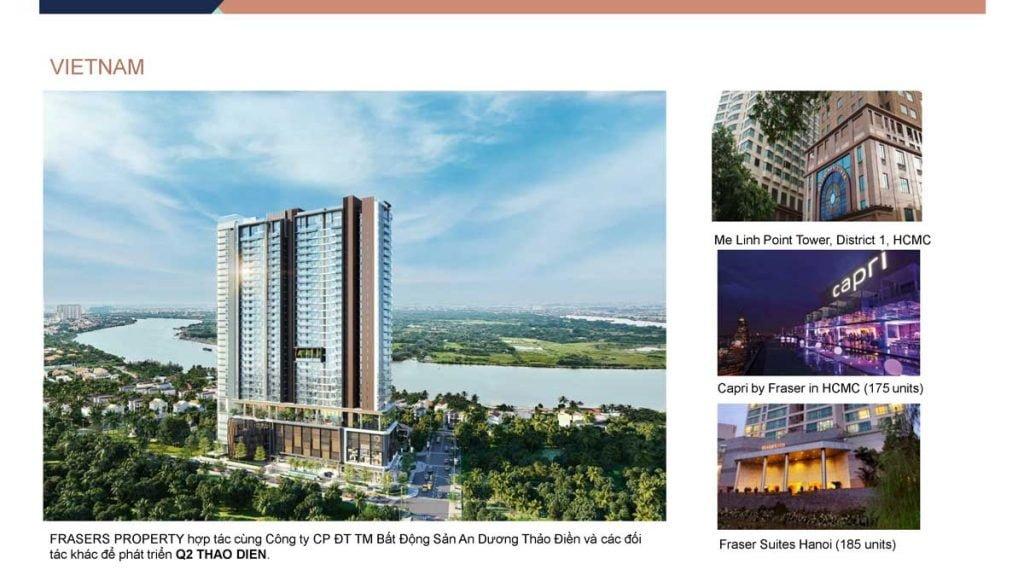 Các dự án của Frasers Property hiện diện trên toàn cầu tại Việt Nam