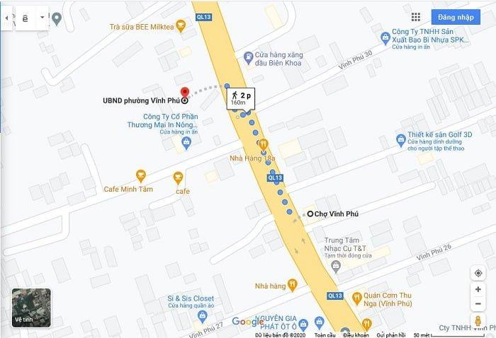 Vị trí căn hộ The Rivana chỉ mất ít phút đi bộ bạn đã đến ngay chợ Vĩnh Phú