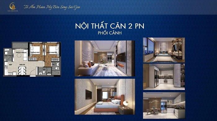 Thiết kế căn hộ The Rivana loại căn 2PN