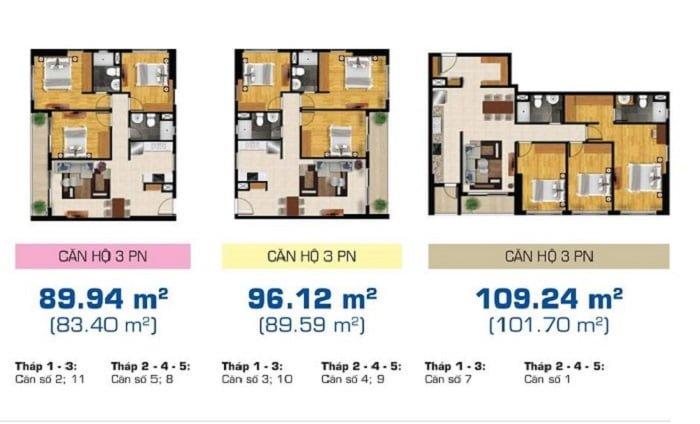 Thiết kế căn hộ 3 phòng ngủ dự án The Sun Avenue