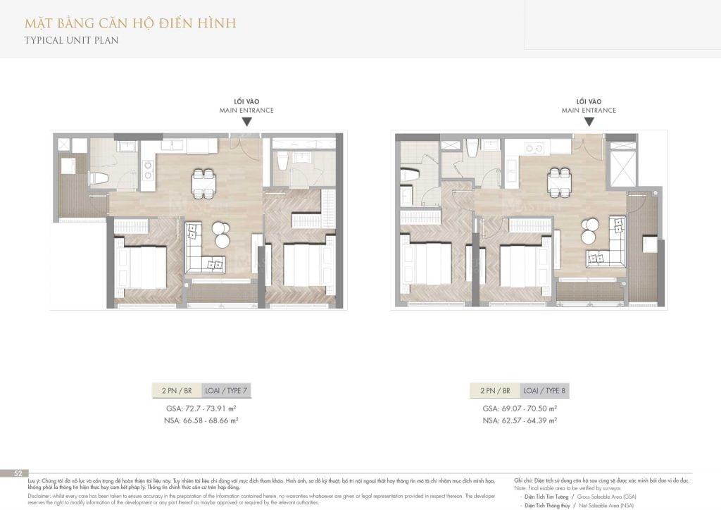 Thiết kế căn hộ 2PN loại 7-8