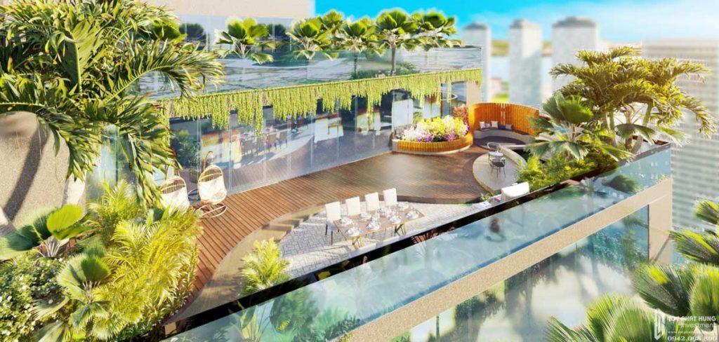 Thưởng trà tại tầng thượng dự án căn hộ Sunshine Diamond River quận 7