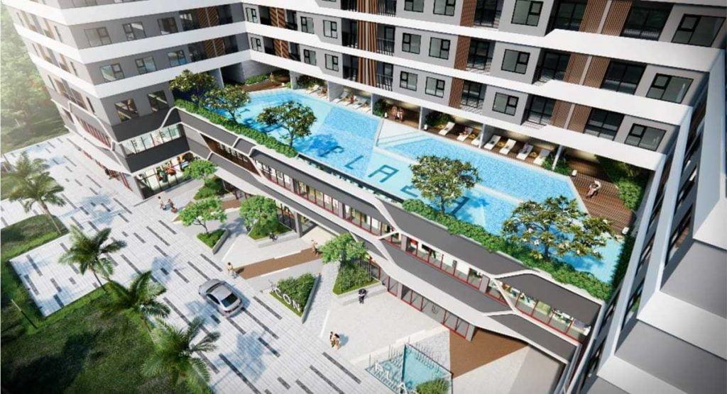 Hồ bơi vô cực tại tầng 3 dự án Icon Plaza