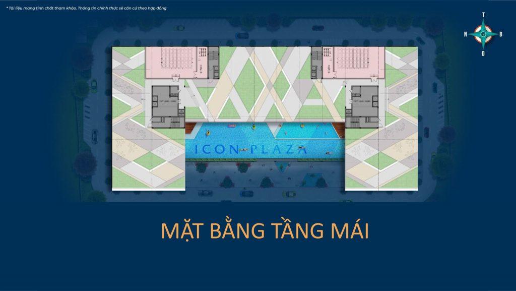 Mặt bằng sàn tầng mái Icon Plaza