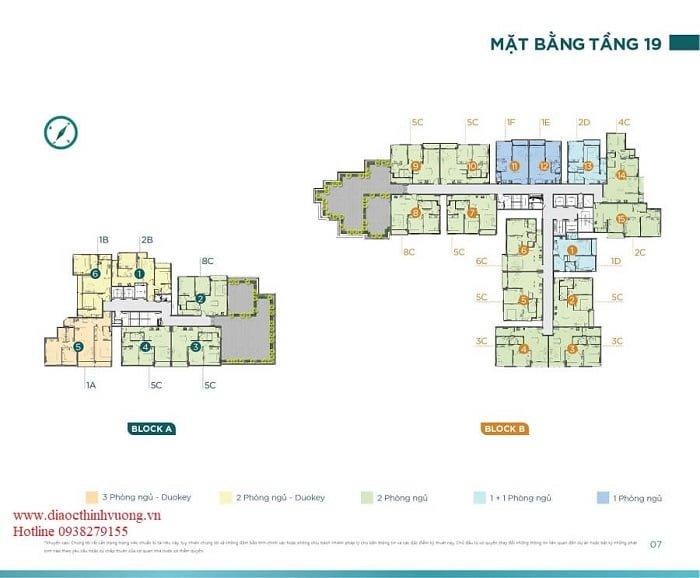 Căn hộ 3 phòng dự án Dlusso Emerald có vị trí đẹp nhất dự án