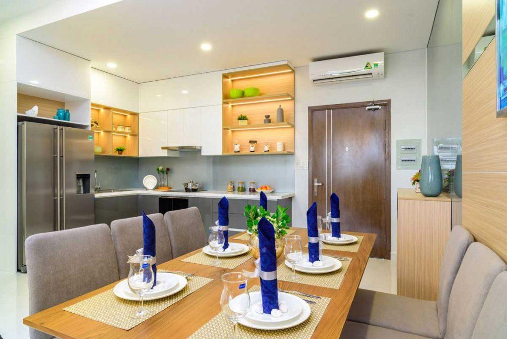 Căn hộ mẫu 3PN - Phòng khách & Bếp