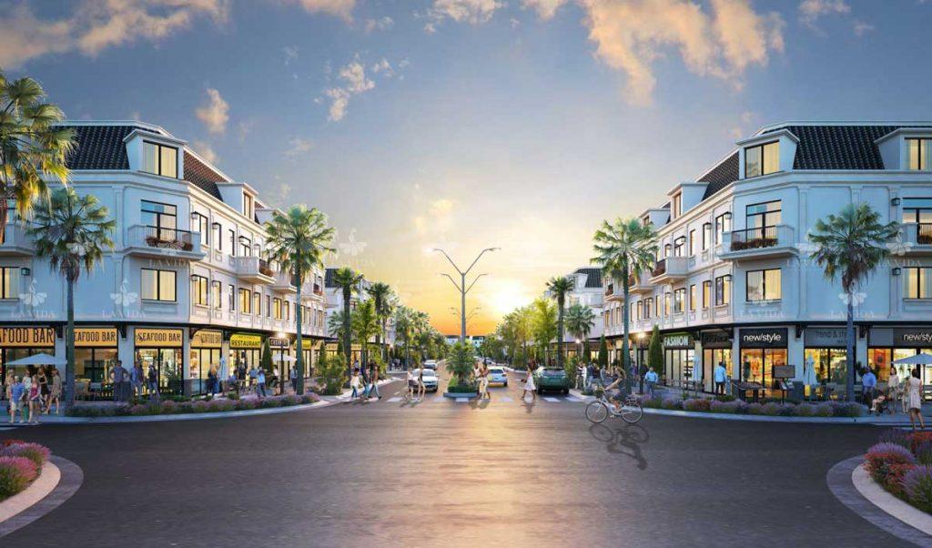 Phối cảnh nhà phố thương mại La Vida Residences